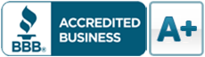 A Rating Better Business Bureau Accredited logo