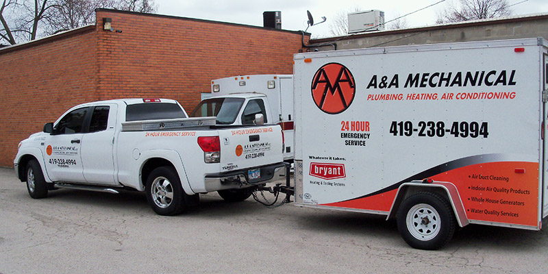 A&A Mechanical truck and trailer